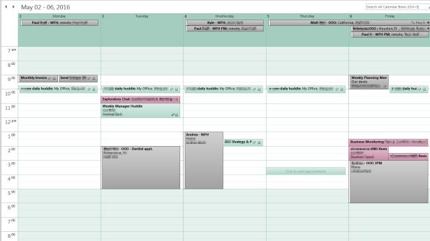Color code your Outlook calendar